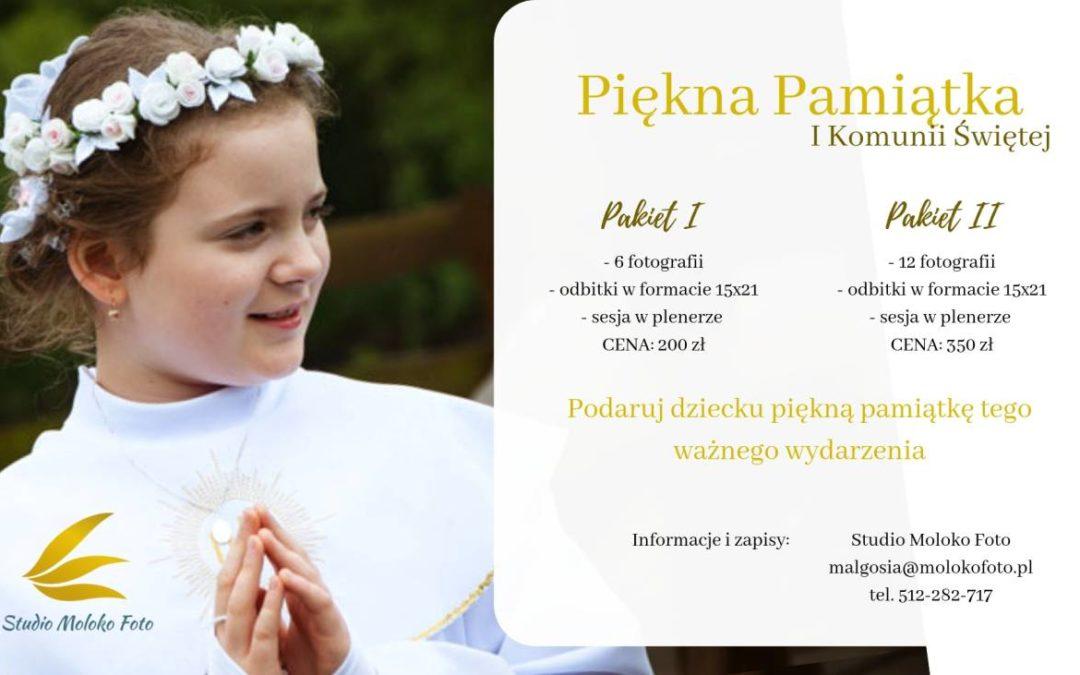 Piękna Pamiątka Komunii Św.
