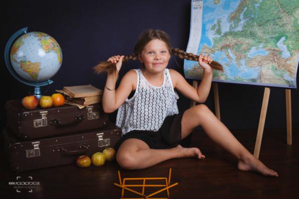 dziewczyna, sesja zdjęciowa, dziecko, szkoła