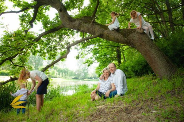 naturalna fotografia rodzina