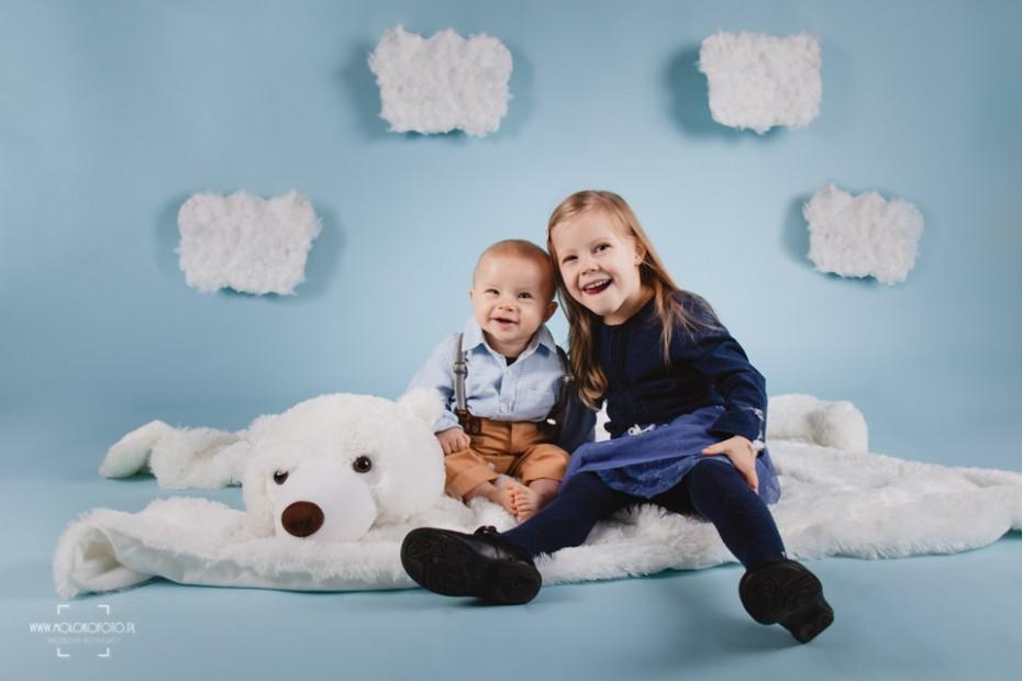 Dziecięca sesja fotograficzna – Oliwier i Julka
